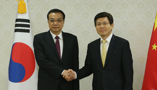 Premier Li meets with his South Korean counterpart in Seoul