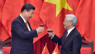 In pictures: Chinese president's visit in Vietnam on Nov. 5