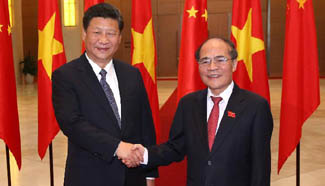 Chinese president meets with Vietnamese National Assembly chairman