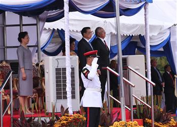 Malaysian PM Najib holds welcoming ceremony for Premier Li
