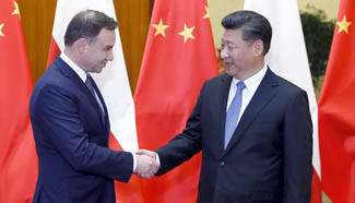 President Xi holds talks with Polish President Duda in Beijing