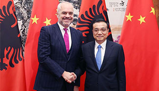 Chinese premier meets Albanian PM in Beijing