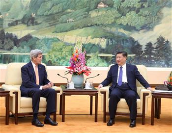 President Xi meets with U.S. secretary of state in Beijing