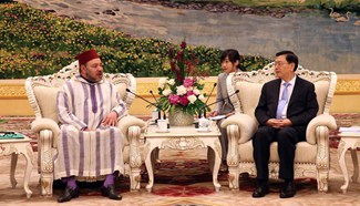 Zhang Dejiang meets with King Mohammed VI of Morocco in Beijing