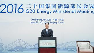 Chinese Vice Premier addresses G20 Energy Ministerial Meeting in Beijing