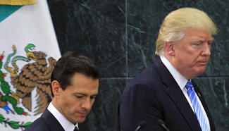 Trump, Mexican president attend press conference in Mexico