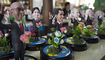 Clay figures featuring leaders to attend G20 Summit seen in China's Hangzhou