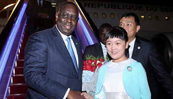 Senegalese president arrives in China's Hangzhou to attend 11th G20 summit