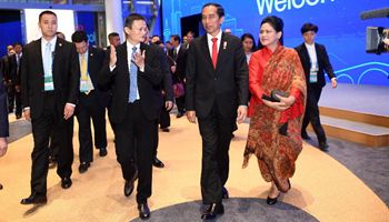 Indonesian president visits headquarters of Alibaba in China's Hangzhou