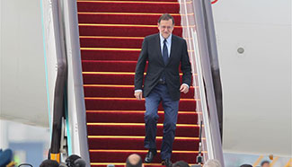 Spanish PM Mariano Rajoy arrives in China for G20 summit