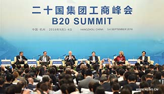 Symposia held during B20 summit in Hangzhou
