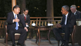President Xi meets with Obama