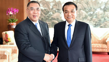Premier Li meets with Macao chief executive