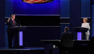 Clinton, Trump participate final presidential debate in Las Vegas