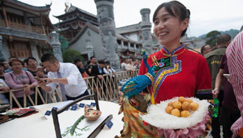 Rural cooking contest held in E China's ethnic county