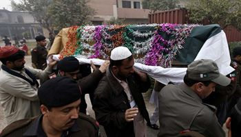 Funeral held for 3 security personnel killed in NW Pakistan blast