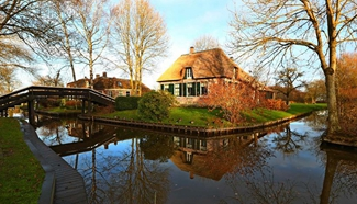 In pics: view of Giethoorn in the Netherlands