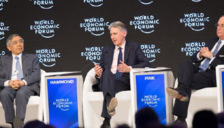 United Kingdom's Chancellor of Exchequer attends World Economic Forum