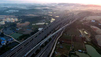 China's Guangxi to build more than 2,000 km of high-speed rail lines