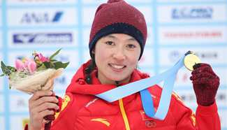 Man Dandan wins China's 1st gold at Asian Winter Games