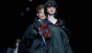 Creations for fashion house Emporio Armani presented in Milan