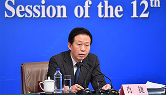 Finance minister meets press for 5th session of 12th NPC