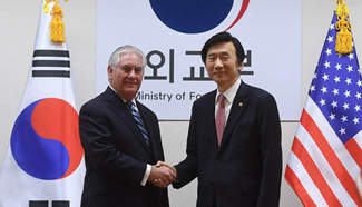 U.S. state secretary says all options on table for Korean Peninsula nuke issue