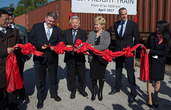 First Chinese freight train from Xi'an arrives in Budapest