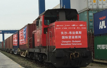 First freight train from China's Changsha arrives to Budapest
