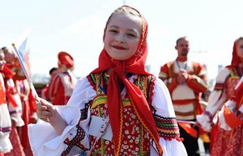 Parade held during 8th China-Russia Cultural Market in Heihe