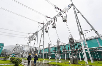 In pics: DC power transmission project in east China