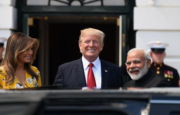 Trump welcomes Indian PM Modi at White House