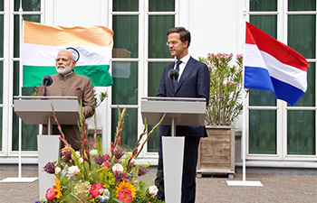 Dutch PM meets Indian counterpart in Hague, Netherlands