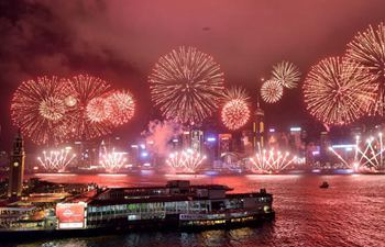 Fireworks show held to mark HK's 20th return anniversary