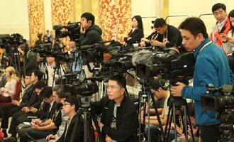 記者在新聞發布會現場