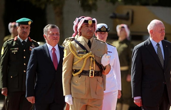 Jordanian king welcomes governor-general of Australia in Amman