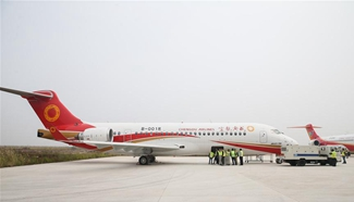 China's regional jetliner in mass production