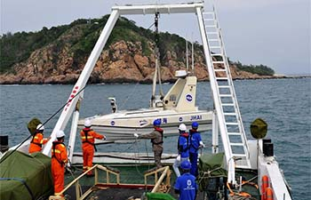 China uses unmanned boats for coastal geological survey