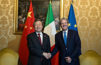 Italian PM meets visiting Chinese vice premier in Rome