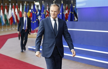 European Council President Donald Tusk arrives in Brussels for EU Summit
