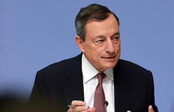 Press conference held at ECB headquarters in Frankfurt, Germany