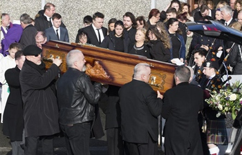 Funeral of The Cranberries lead singer Dolores O'Riordan held in Limerick