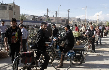 Bicycles become daily means of transportation in Syria's Douma