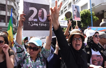 People attend rally demanding liberation of figurehead of protest movement in Morocco
