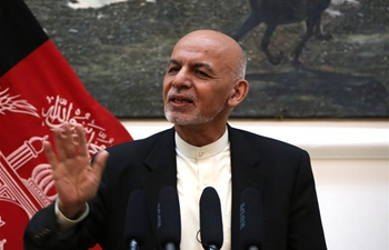 Afghan president speaks at press conference in Kabul