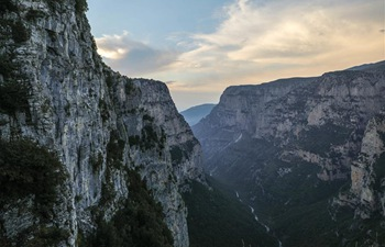 View of Vikos Gorge in northwest Greece