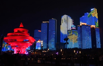 Night view of Qingdao in east China's Shandong
