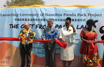 Launching ceremony of Namibia Panda Pack Project held in Windhoek