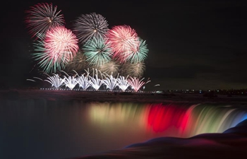 Cascades of Fire Int'l Fireworks Competition held in Canada