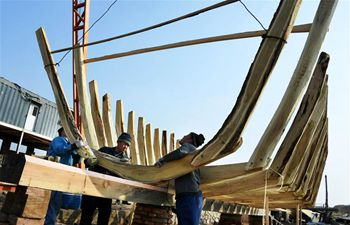 In pics: traditional hand-built shipyard in Shandong